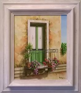 """Vera Pellegrino """" Porta sul balcone"""" 24x30"""