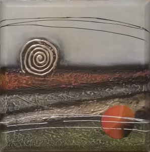 Tela moderna dipinta a mano 50x50, 30€ (di listino 160€)-nna