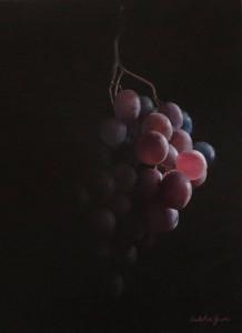 """Salvatore Grasso, olio su tela 40x50 """"grappolo d'Uva"""""""