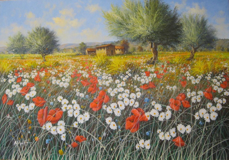 """Loville """"Campo di papaveri 70x100"""""""