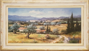 "oleografia ""paesaggio"" 50x70"