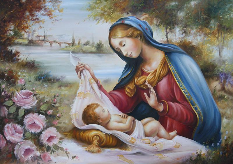 """Roseli """"Madonna con bambino"""" capezzale classico"""